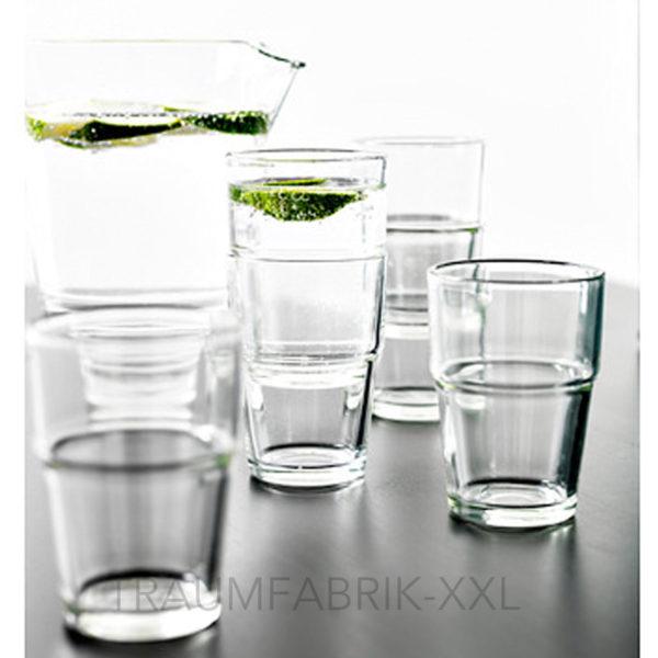 wasserglas 12 st ck glas trinkglas wassergl ser. Black Bedroom Furniture Sets. Home Design Ideas