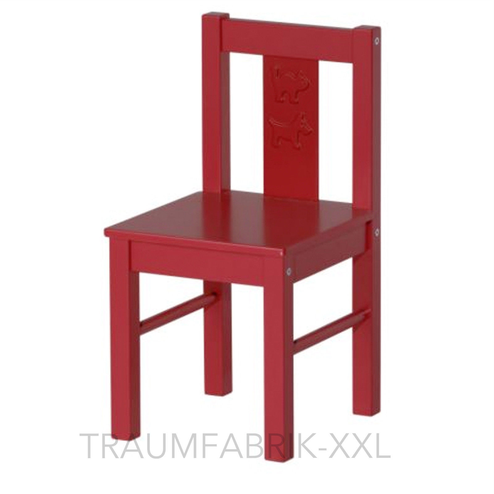 IKEA KRITTER Kinderstuhl Stuhl Kinderzimmer Holzstuhl rot Sitzhöhe ...
