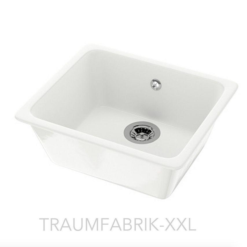 IKEA Keramikspüle Küchenspüle Einbauspüle Spüle Spülbecken + Zubehör ...