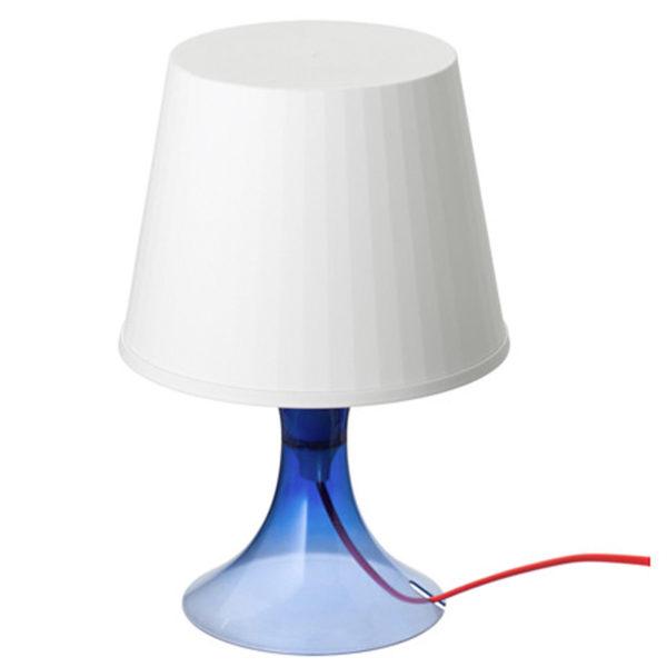 IKEA LAMPAN Tischlampe blau Nachttischlampe Regalleuchte ...