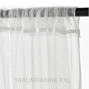 ikea gardinenpaar lill weiss 2 x 280 300 cm gardine gardinenschals vorhang neu traumfabrik xxl. Black Bedroom Furniture Sets. Home Design Ideas