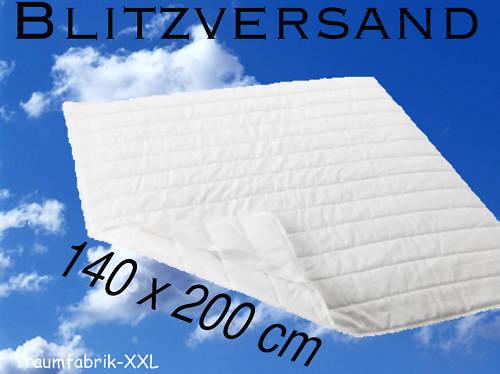 matratzenschoner matratzenauflage 140 200 cm neu ovp traumfabrik xxl. Black Bedroom Furniture Sets. Home Design Ideas