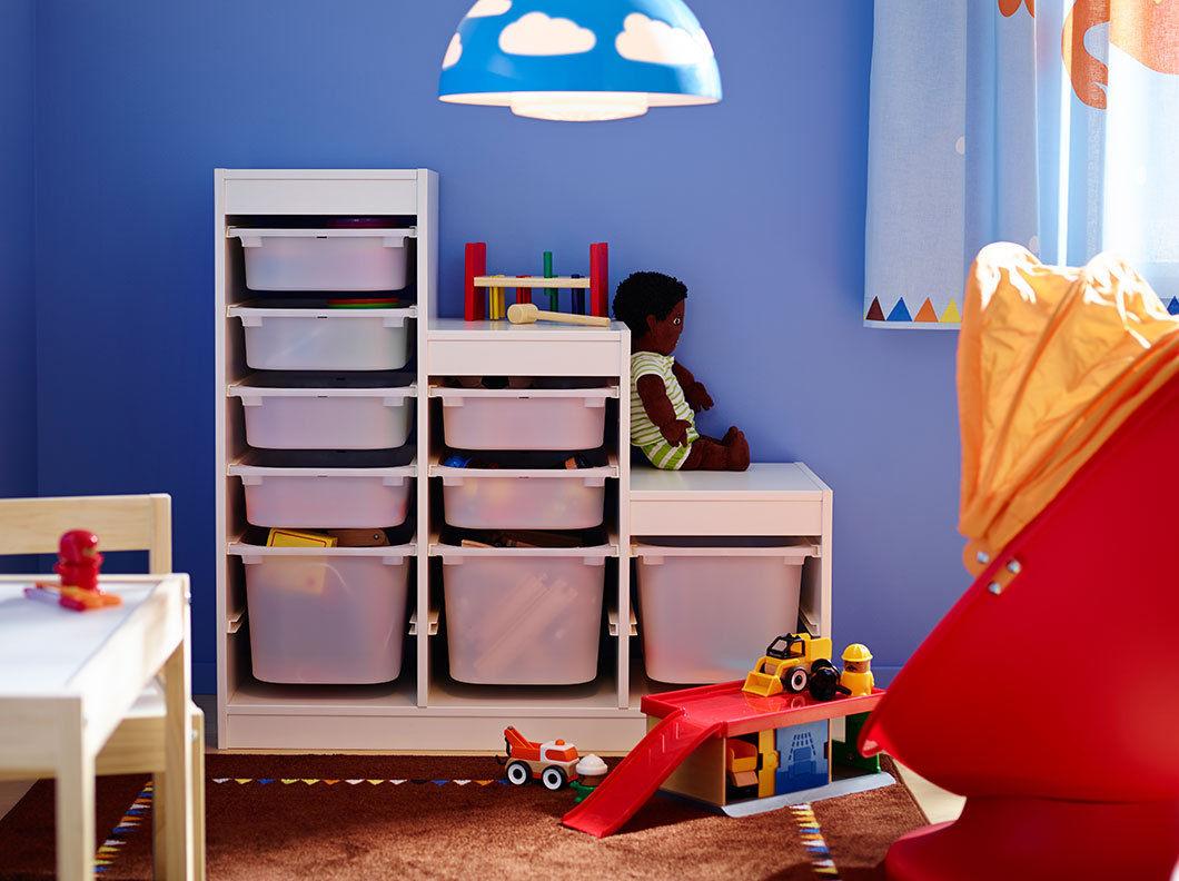 IKEA Aufbewahrung mit Boxen Spielzeug Kinder Regal System Rahmen ...