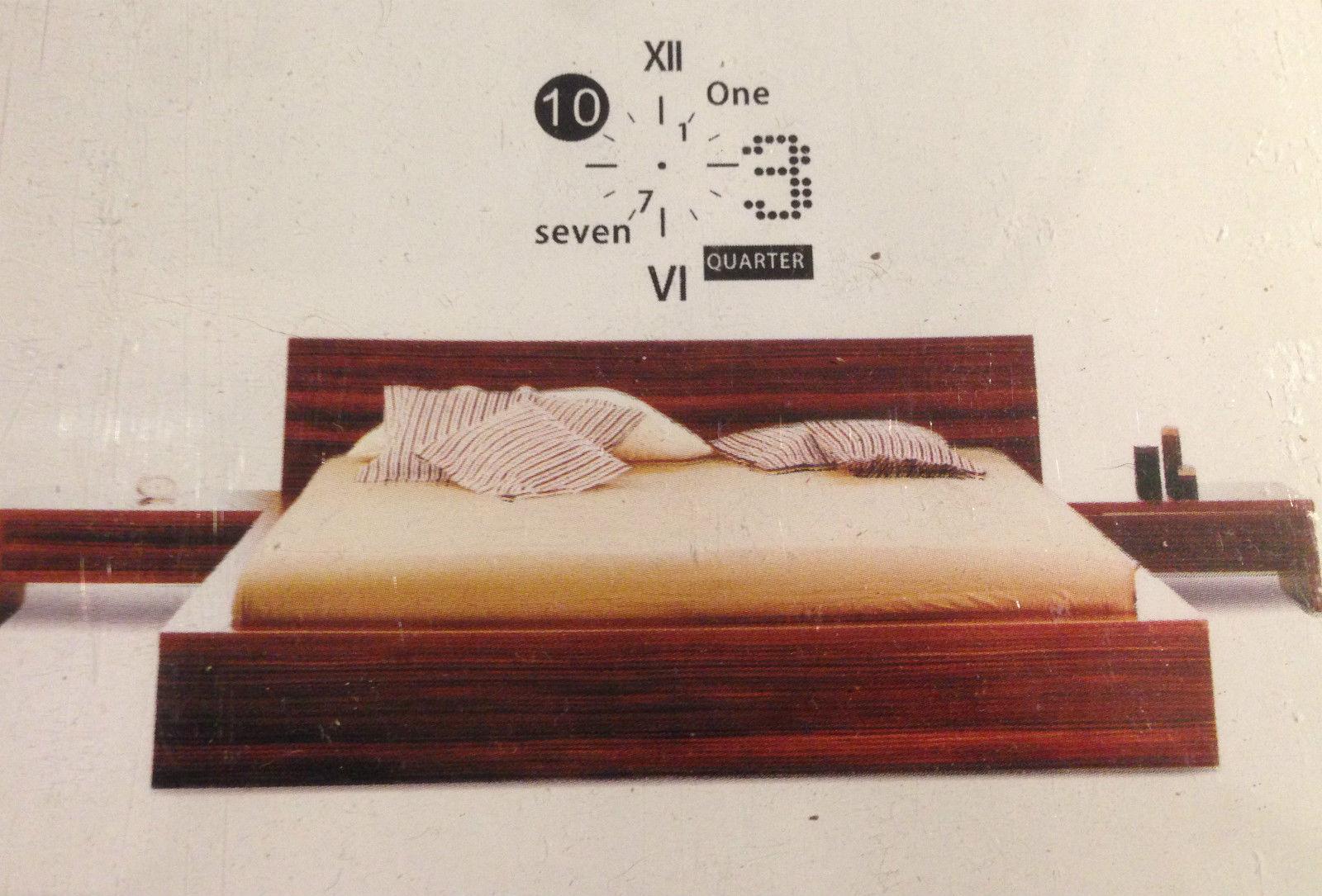 XL Wandtattoo Uhr Wanduhr mit Uhrwerk für Wohnzimmer Küche Zahlen modern  50x70cm