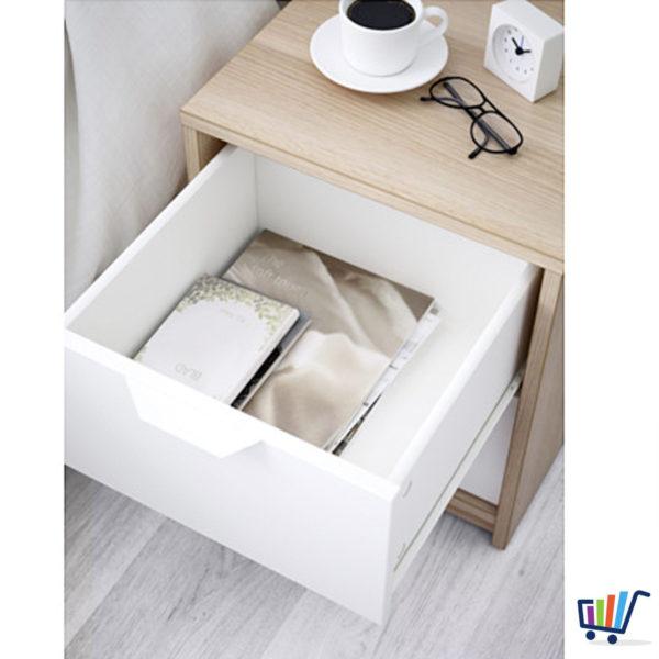 ikea askvoll kommode mit 2 schubladen eiche nachtkonsole. Black Bedroom Furniture Sets. Home Design Ideas