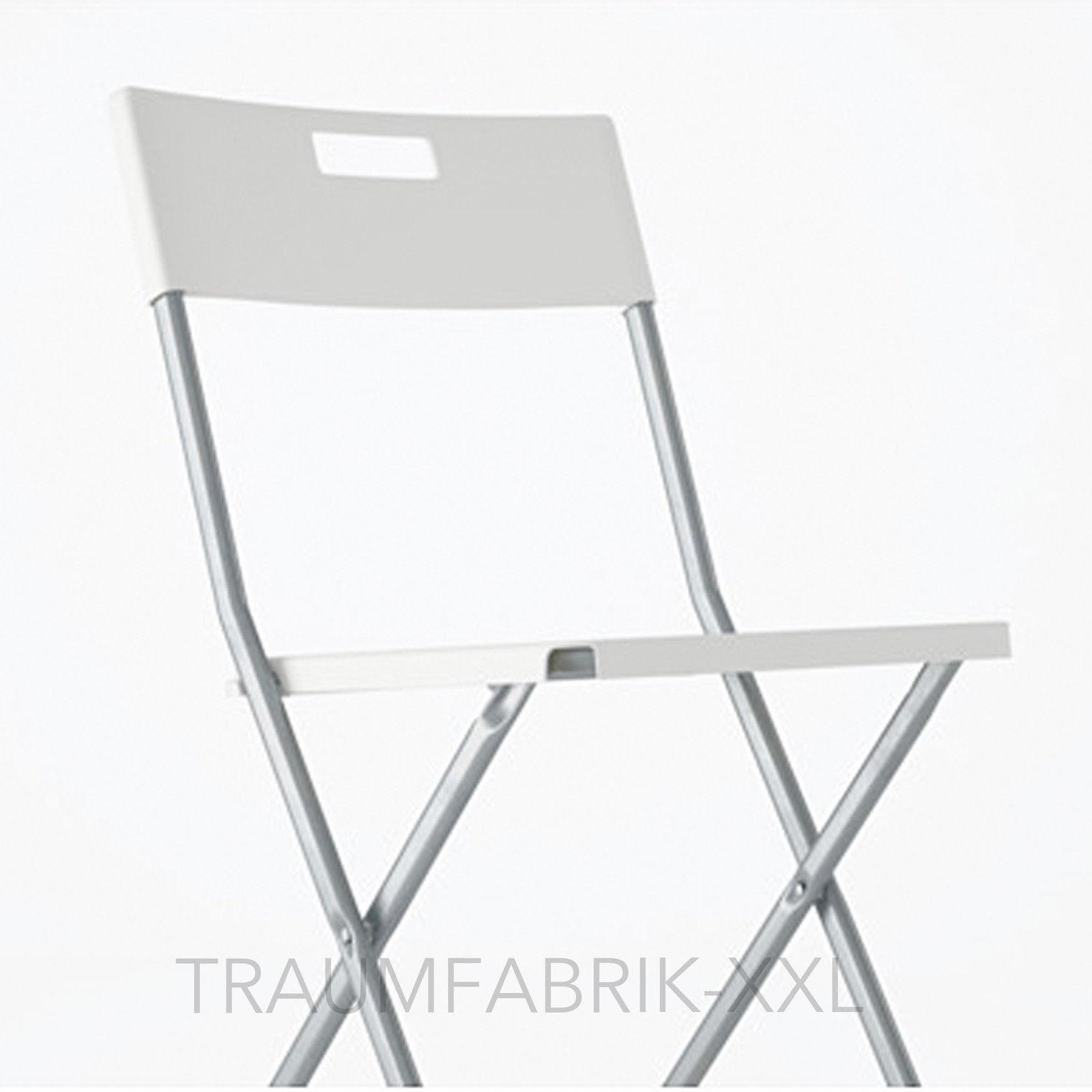 ikea gunde balkonstuhl wei klappstuhl g stestuhl besucherstuhl balkonstuhl traumfabrik xxl. Black Bedroom Furniture Sets. Home Design Ideas