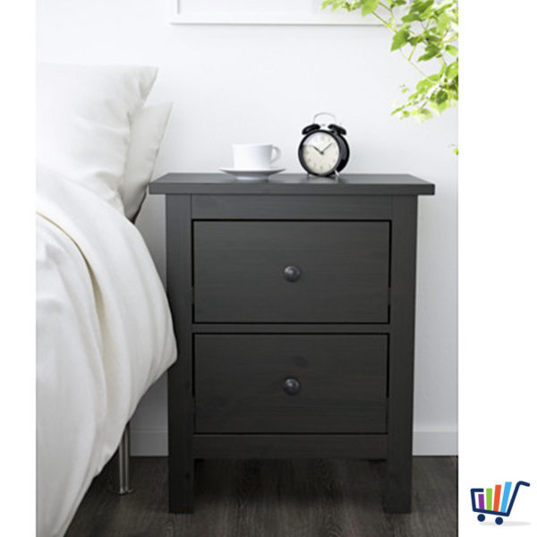 ikea hemnes kommode 2 schubladen schwarzbraun nachtkonsole. Black Bedroom Furniture Sets. Home Design Ideas