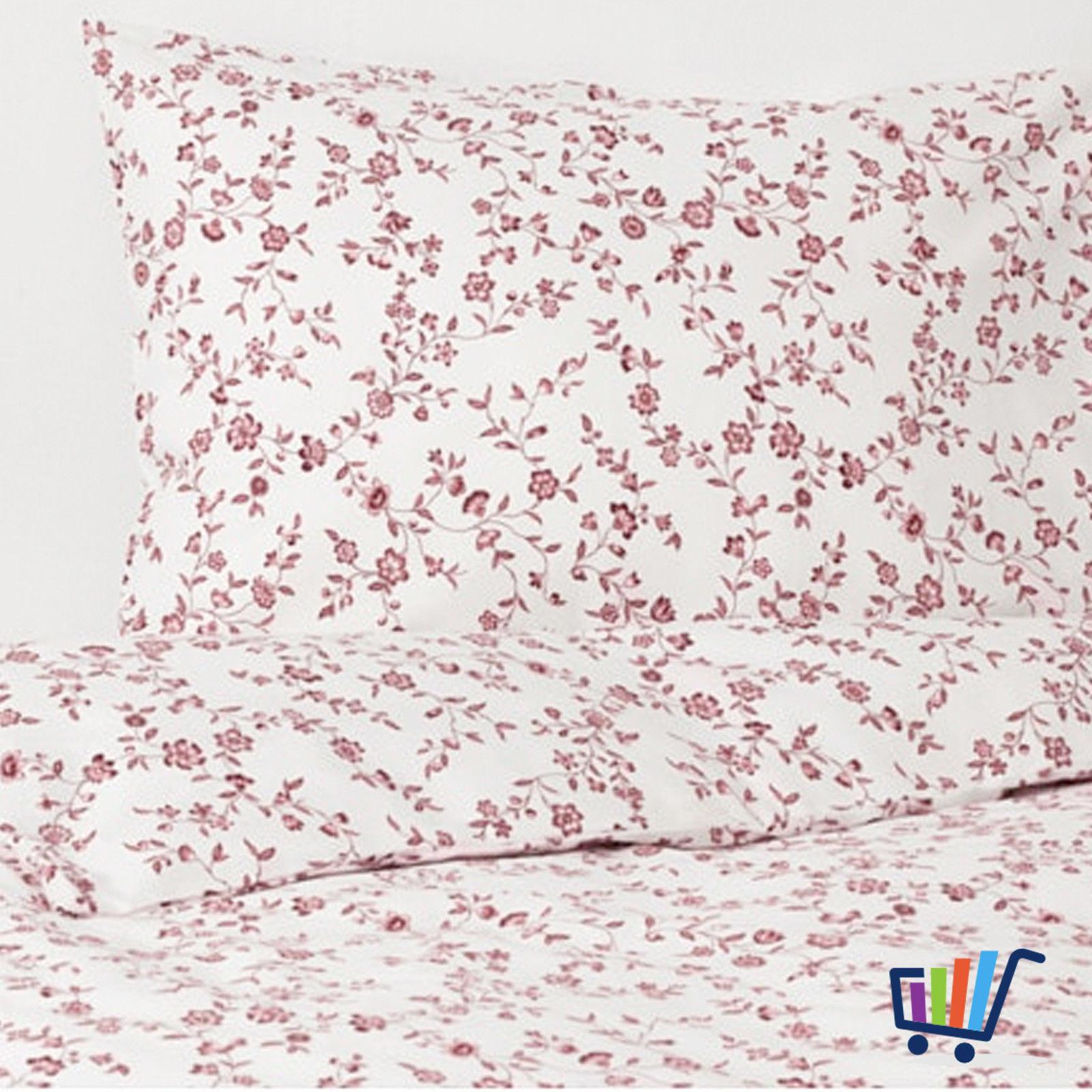 Ikea Hässleklocka 2 Tlg Bettwäsche 140200 Cm Bettbezug Rosa Weiß