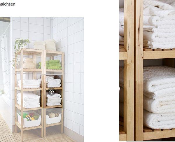 Badezimmermöbel ikea qualität  IKEA Regal Birke Badregal Standregal Holzregal Badmöbel Lagerregal ...