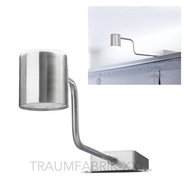 ikea urshult led schrankbeleuchtung silber vitrinenbeleuchtung spot lampe neu traumfabrik xxl. Black Bedroom Furniture Sets. Home Design Ideas