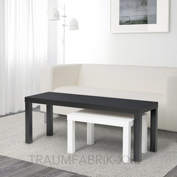 ikea lack 2er set beistelltisch schwarz wei couchtisch wohnzimmertisch satz neu traumfabrik xxl. Black Bedroom Furniture Sets. Home Design Ideas