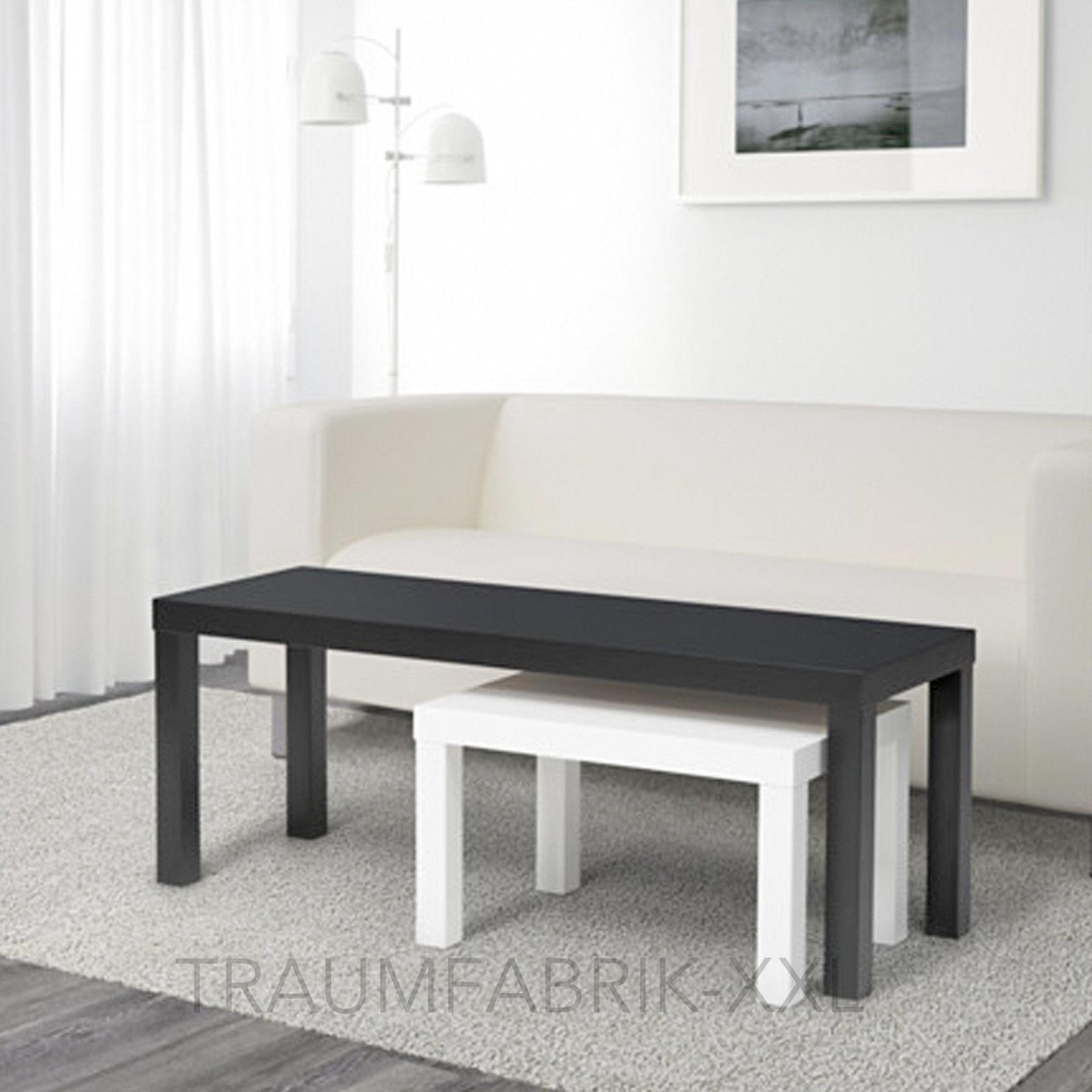 Ikea Lack 2er Set Beistelltisch schwarz weiß Couchtisch ...