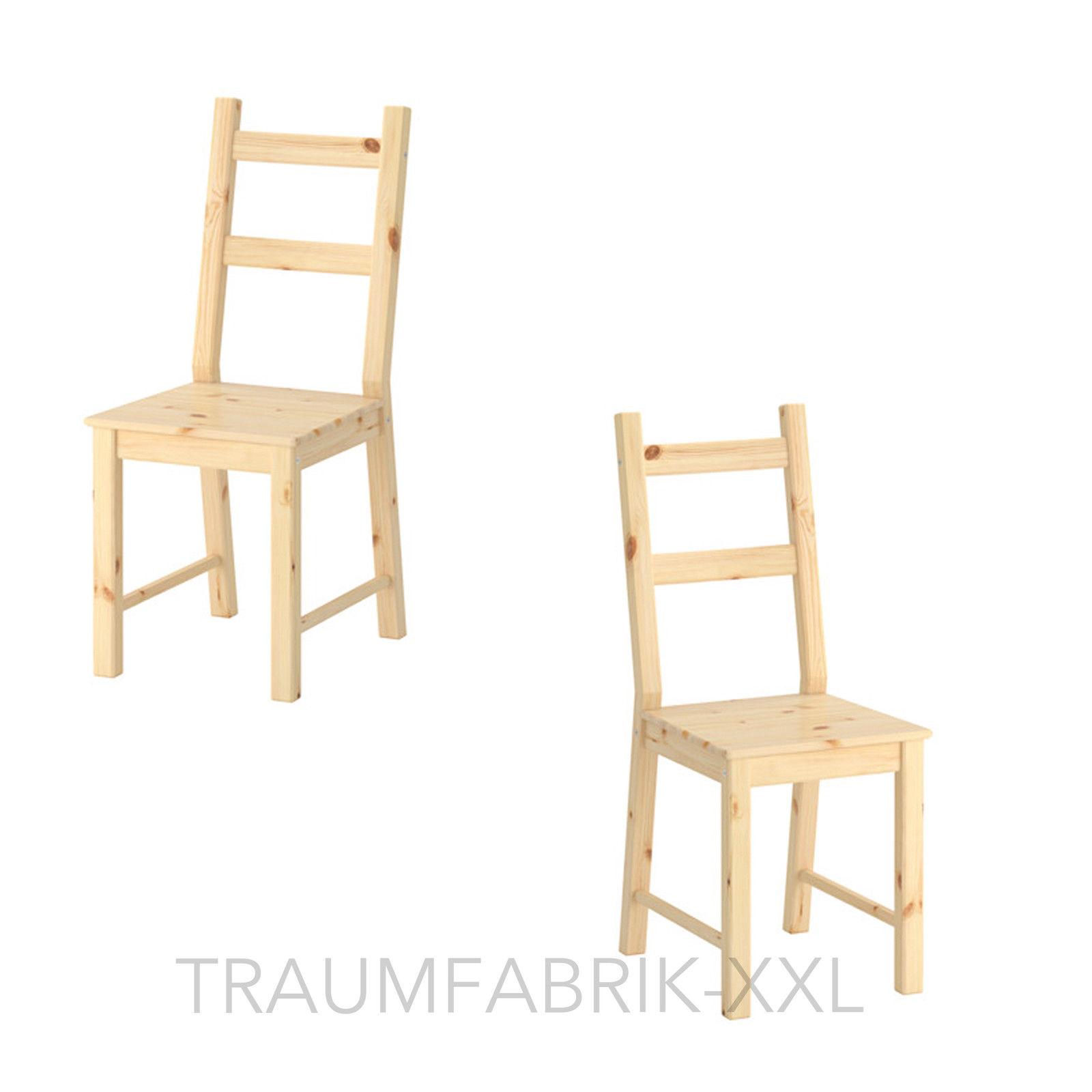 2x esszimmerstuhl k chenstuhl modern kiefernholz stuhl. Black Bedroom Furniture Sets. Home Design Ideas