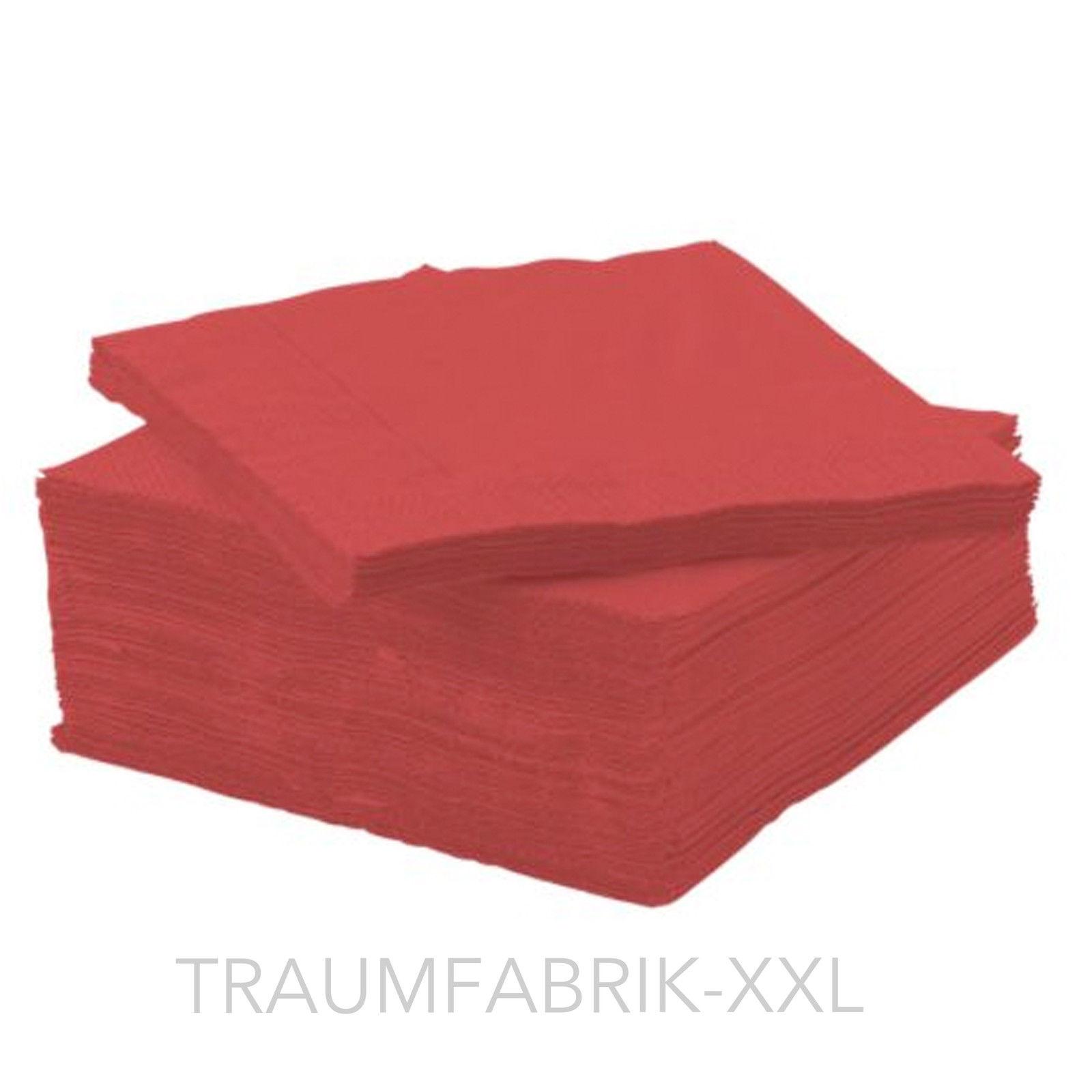 50 servietten rot uni 24 24 cm papierservietten hochzeit Tischdeko gastronomie