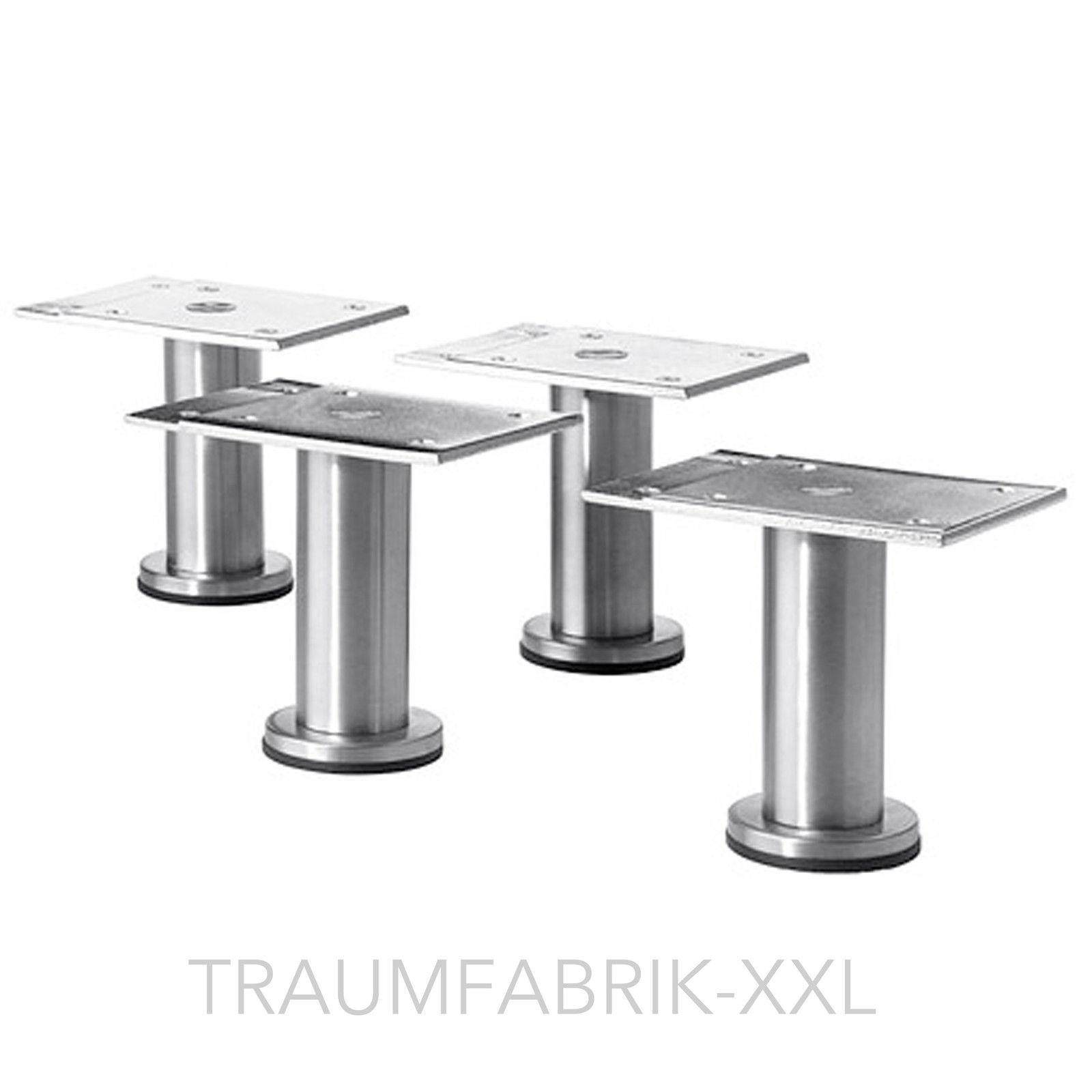IKEA 4er Set Beine Möbelbeine Küchenfüße 8-9cm Edelstahl Kallax ...