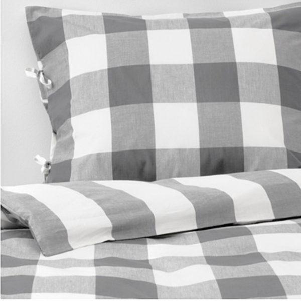 ikea emmie ruta bettw sche 140 200 cm bettw scheset garnitur bettbezug grau neu traumfabrik xxl. Black Bedroom Furniture Sets. Home Design Ideas