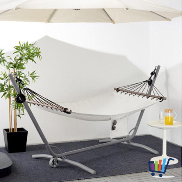 ikea h ngematte fred n beige tuchh ngematte auch f r gestell geeignet 200 cm neu traumfabrik xxl. Black Bedroom Furniture Sets. Home Design Ideas