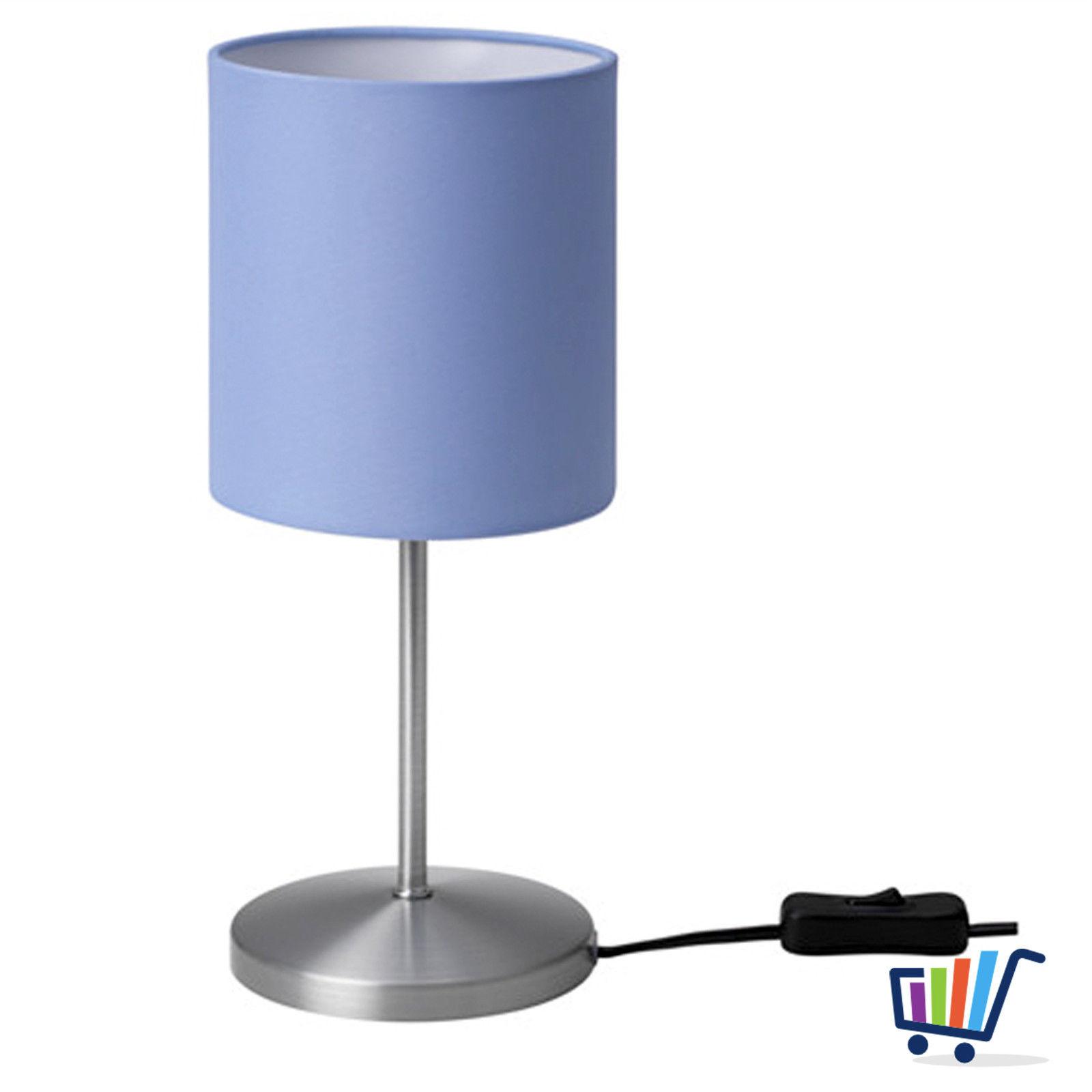 ikea ingared tischleuchte hellblau nachtischlampe regallampe lampe