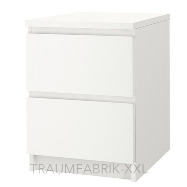 ikea malm kommode mit 2 schubladen wei nachtkonsole nachttisch schrank neu ovp traumfabrik xxl. Black Bedroom Furniture Sets. Home Design Ideas