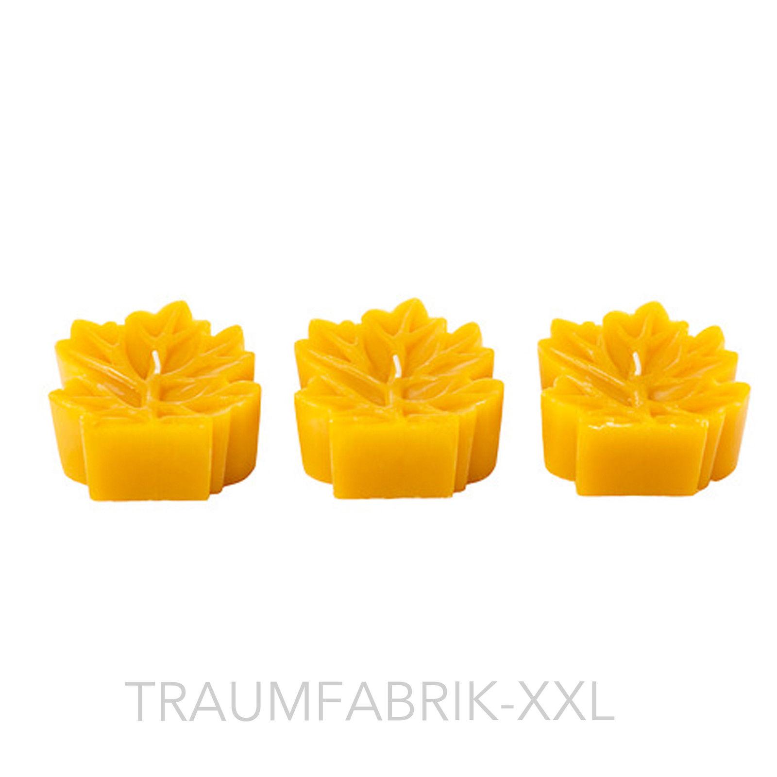 ikea ruggig 3er set kerzen kerze blockkerze blockkerzen dekokerze bl tter orange traumfabrik xxl. Black Bedroom Furniture Sets. Home Design Ideas