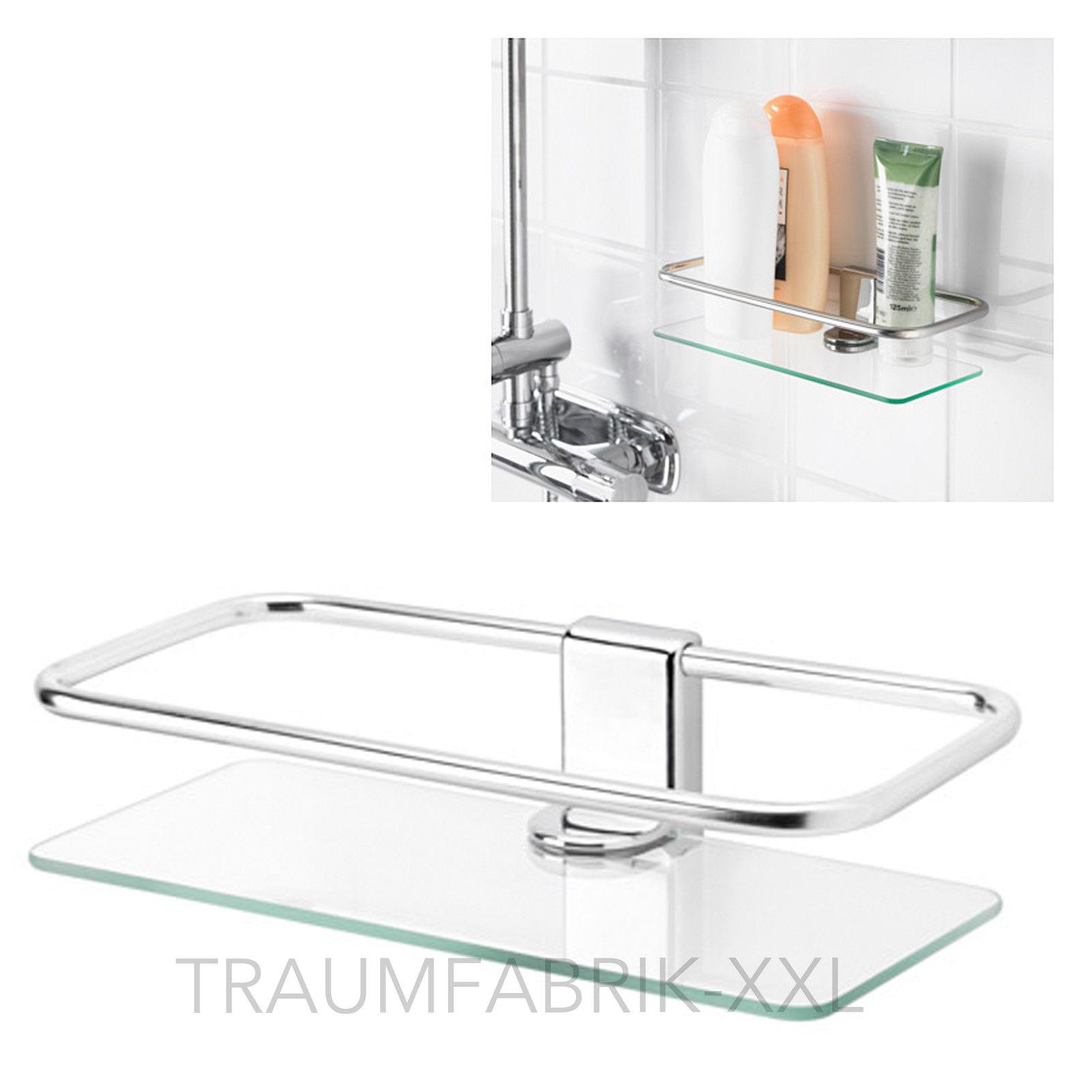 KEA KALKGRUND Duschablage verchromt (24x6cm) Badablage Badezimmer ...
