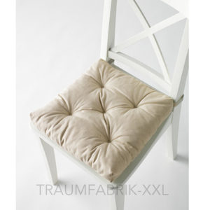 sitzkissen stuhlkissen softkissen kissen ca 40 40 cm 7cm dick neu hell beige traumfabrik xxl. Black Bedroom Furniture Sets. Home Design Ideas