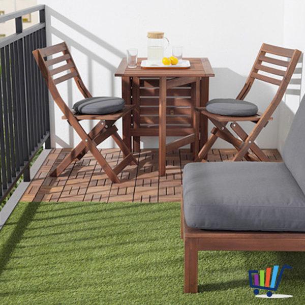 Ikea 9 Er Pack Fliese Rasen Bodenrost Balkon Terrasse Bodenbelag
