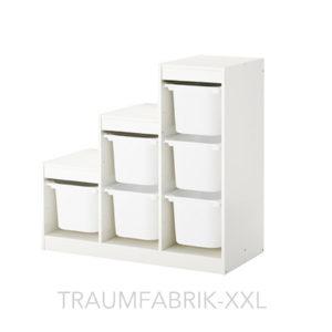 ikea aufbewahrung mit boxen f r spielzeug kinder regal rahmen wei ordnung neu traumfabrik xxl. Black Bedroom Furniture Sets. Home Design Ideas