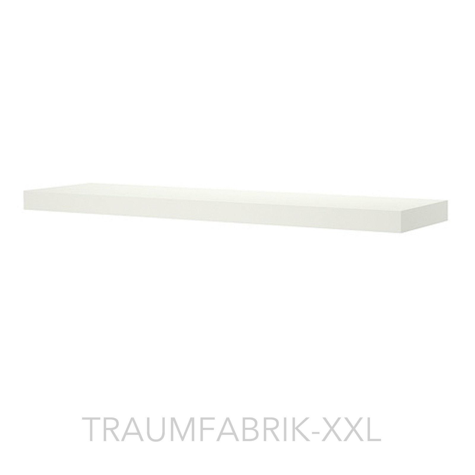 ikea designer wandregal 110 26 cm regal wei frei schwebend ablage lounge neu traumfabrik xxl. Black Bedroom Furniture Sets. Home Design Ideas