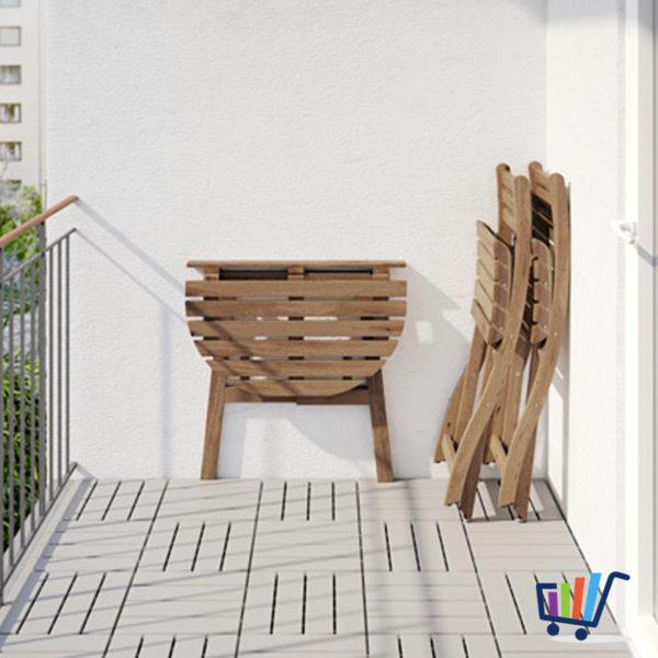 IKEA Gartentisch Wandtisch + 2 Klappstühle Balkonmöbel Tisch ...