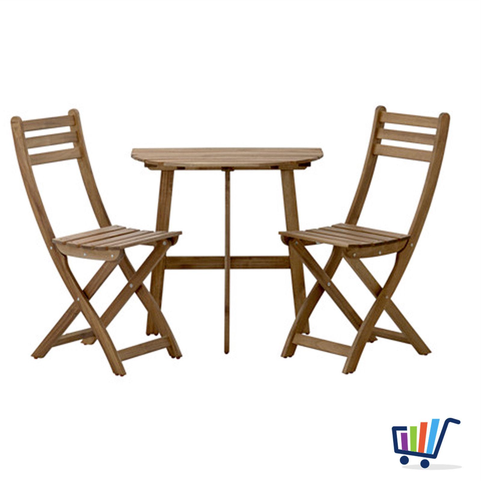 ikea gartentisch wandtisch + 2 klappstühle balkonmöbel tisch
