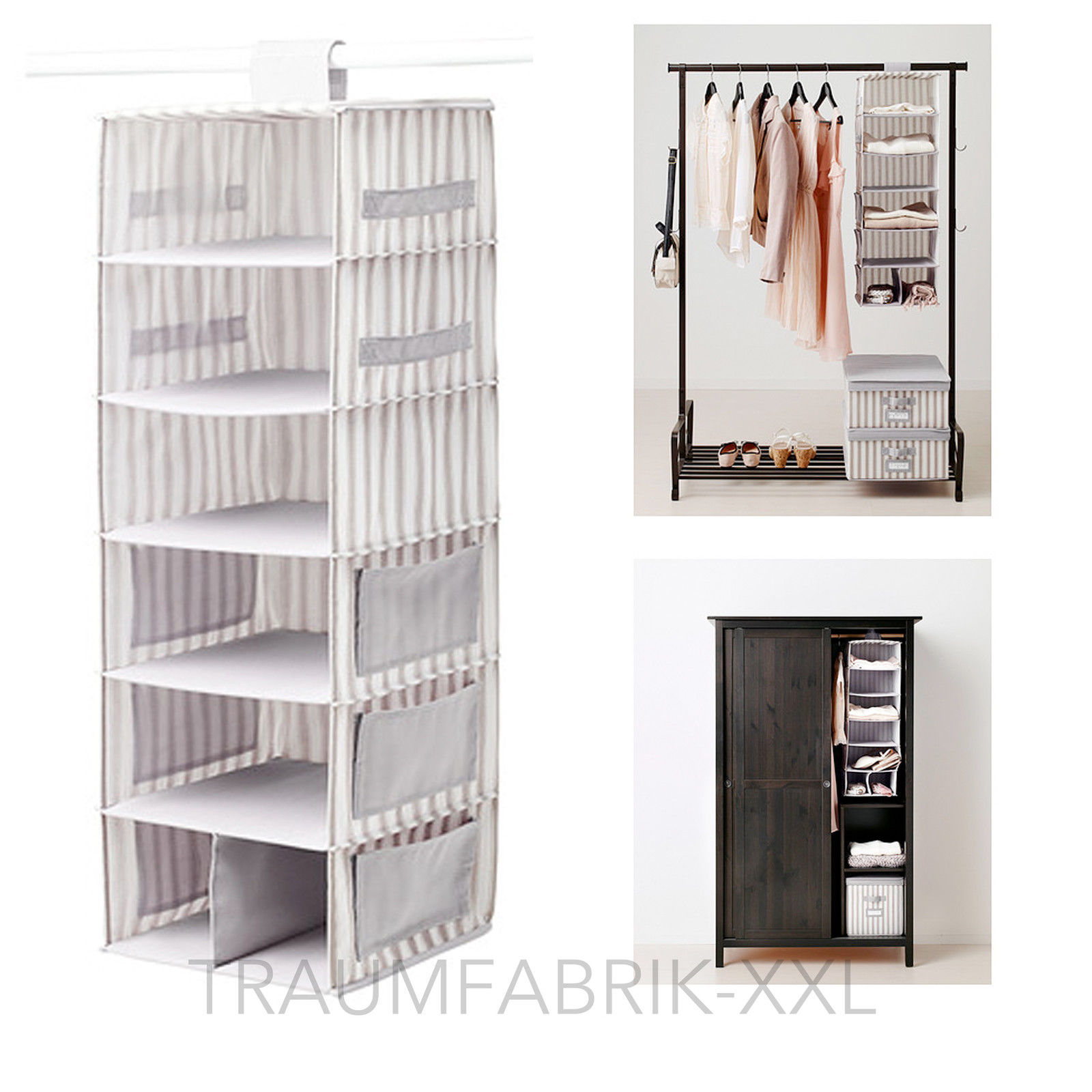 ikea h ngeaufbewahrung schuhregal regal garderobenh nger handtuchregal grau neu traumfabrik xxl. Black Bedroom Furniture Sets. Home Design Ideas