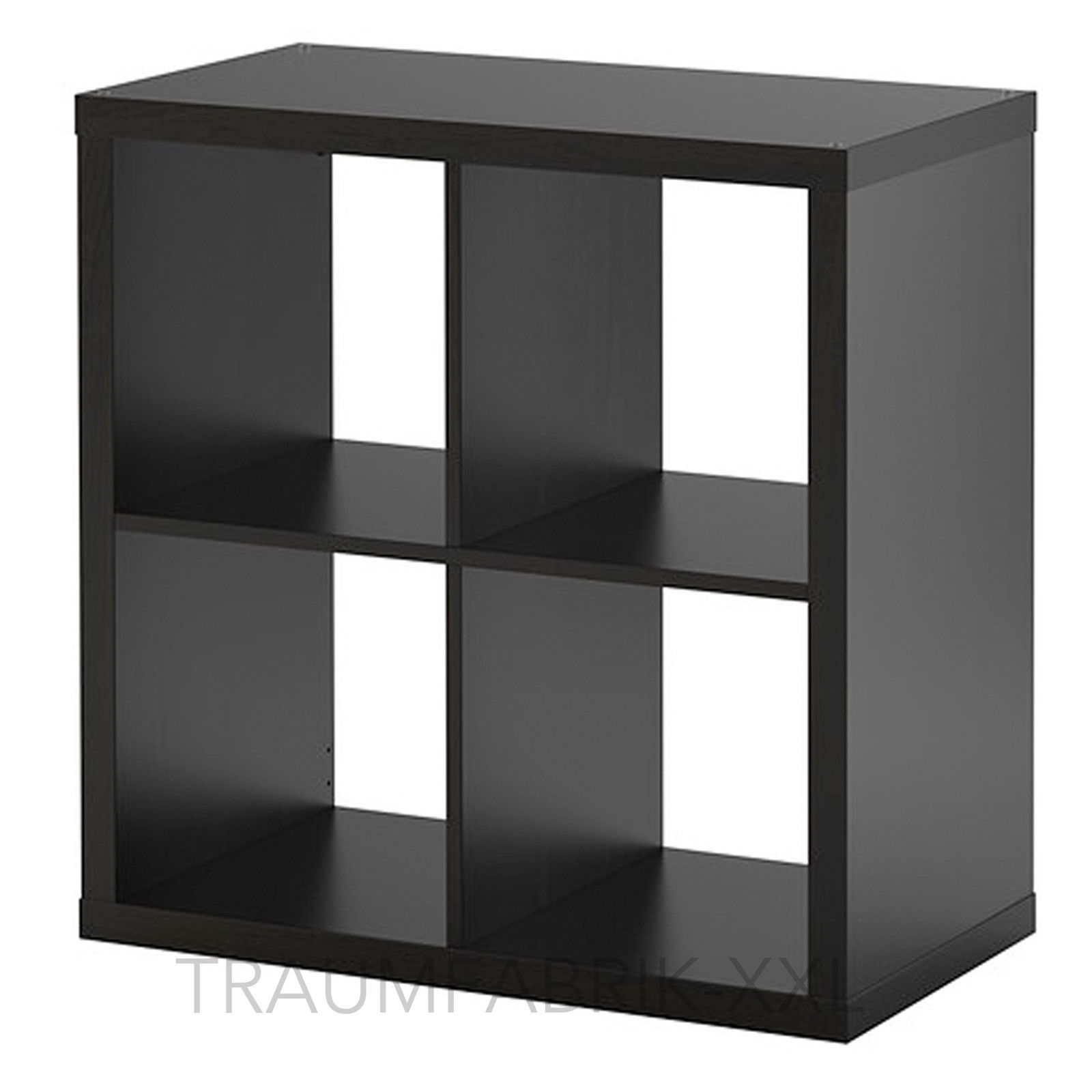 IKEA KALLAX STAURAUMREGAL schwarz braun 77x77cm BÜCHERREGAL REGAL WANDREGAL NEU  Traumfabrik XXL