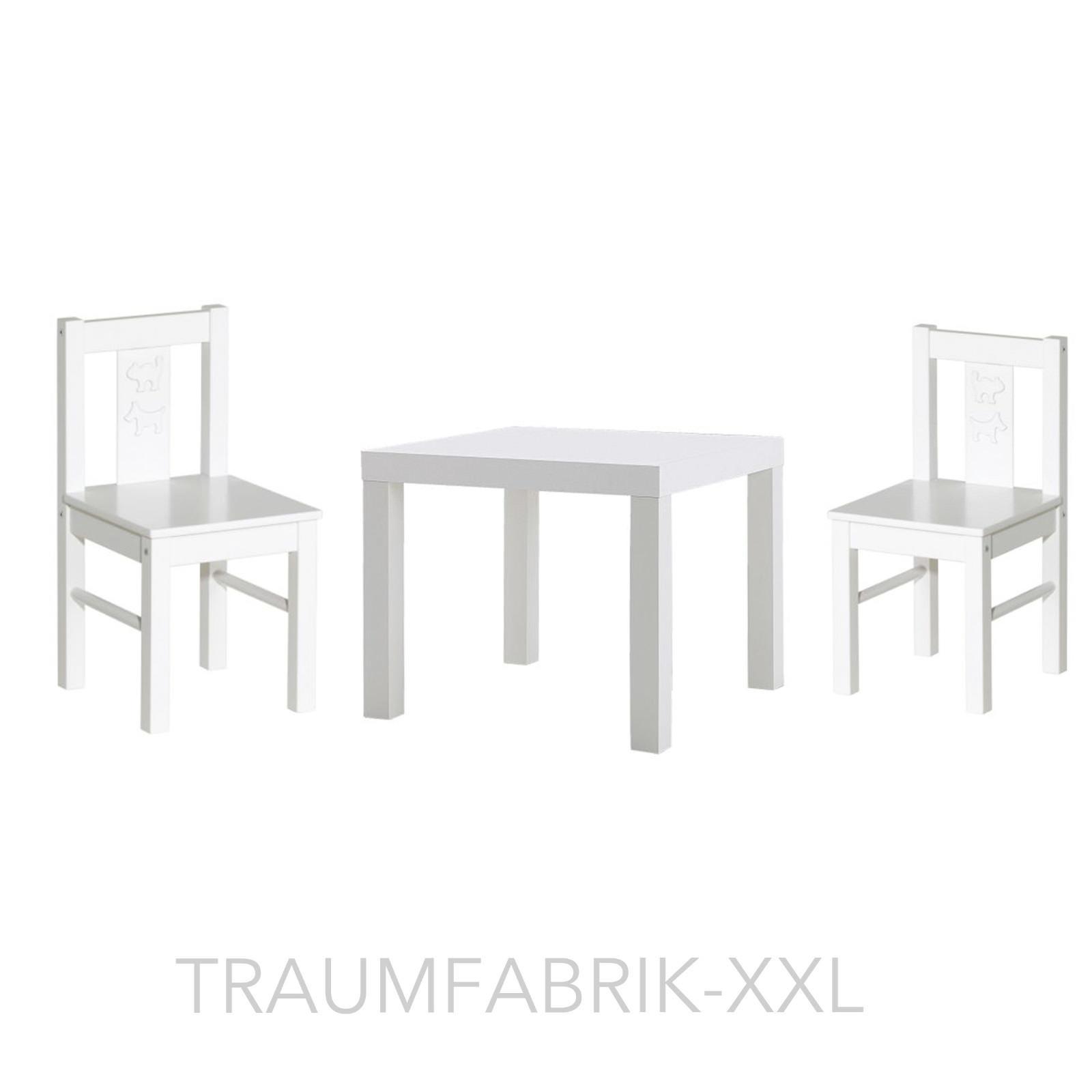Kindersitzgruppe 2x Ikea Kindertisch Sitzgruppe Weiß Lack Kinderstuhl Kritter 5Rj4qAL3