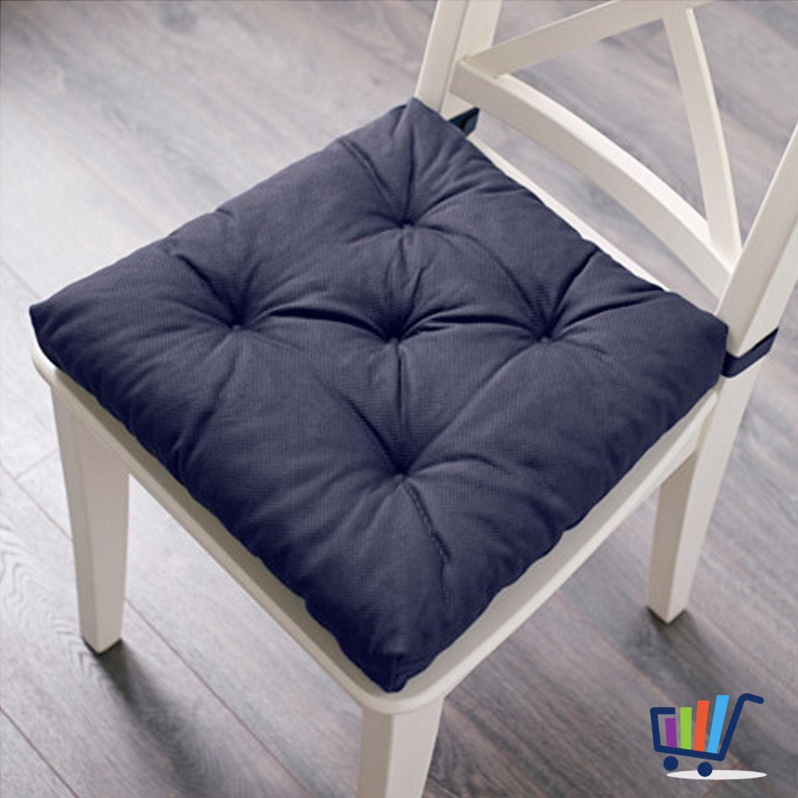 IKEA MALINDA Stuhlkissen Sitzkissen Polsterkissen Kissen blau ca. 40 ...