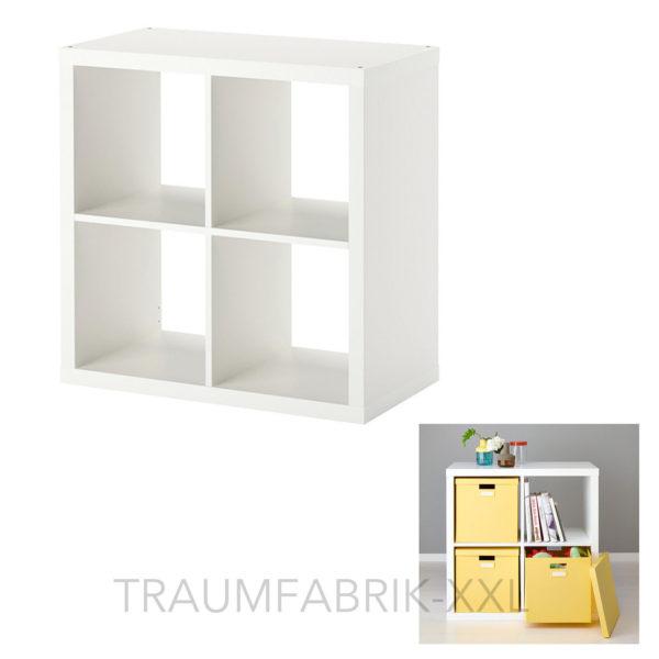 ikea regal regale wei 77 x 77cm wandregal b cherregal spielregal neu ovp traumfabrik xxl. Black Bedroom Furniture Sets. Home Design Ideas