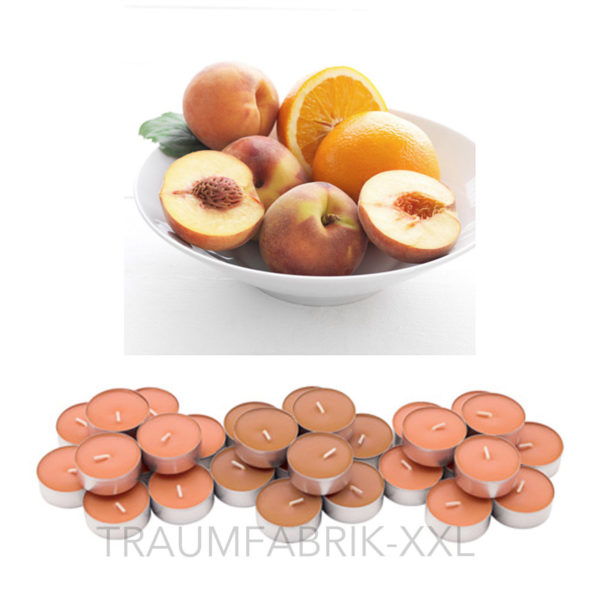 ikea sinnlig 30 teelichter duft teelicht duftend aprikose und orange duftkerzen traumfabrik xxl. Black Bedroom Furniture Sets. Home Design Ideas