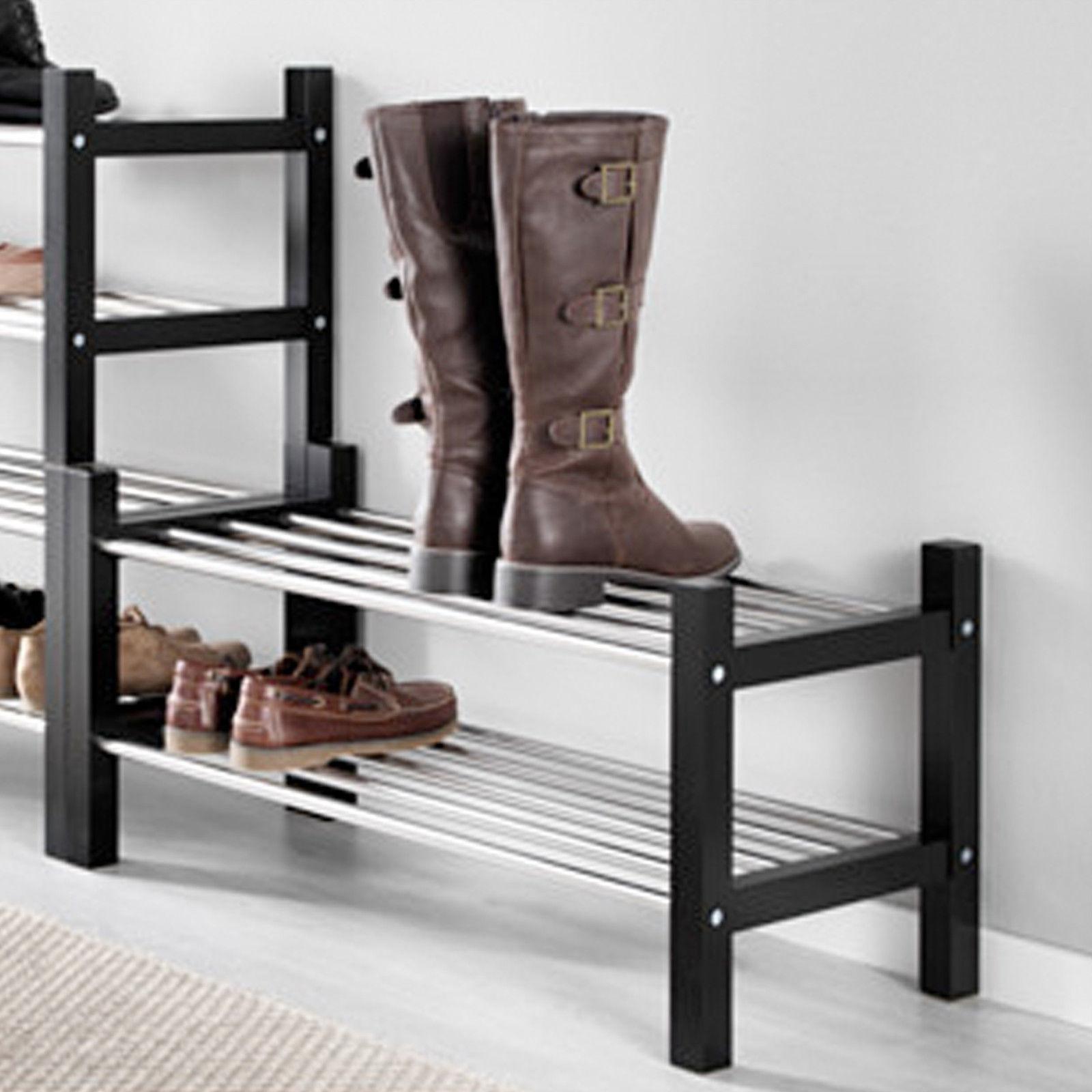 IKEA TJUSIG Schuhaufbewahrung schwarz Schuhregal Flurregal Handtuchablage NEU  Traumfabrik XXL