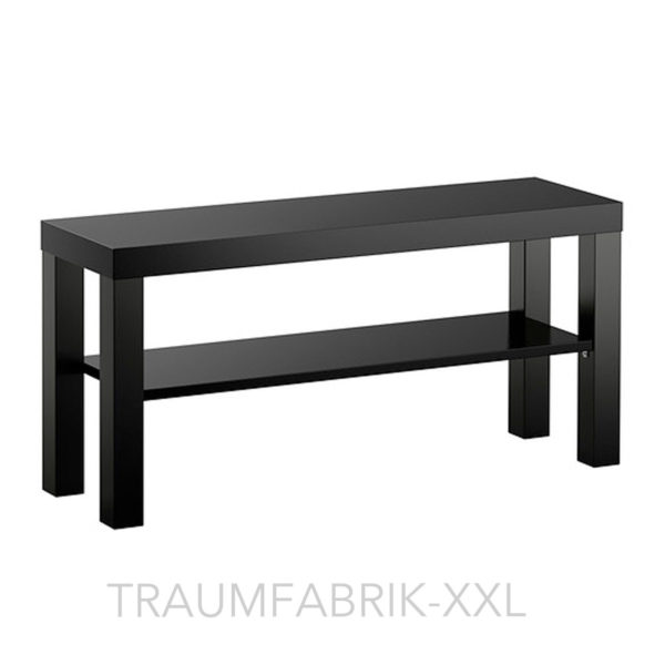 ikea tv tisch wohnzimmerregal fernsehregal schwarz 90 26 cm wohnzimmer regal neu traumfabrik xxl. Black Bedroom Furniture Sets. Home Design Ideas