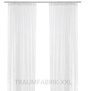 2x ikea lill gardine gardinenschal vorhang mit schlaufen wei 280 300 cm neu ovp traumfabrik xxl. Black Bedroom Furniture Sets. Home Design Ideas
