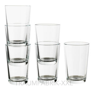6 x ikea saftglas saftgl ser wasserglas wassergl ser gl ser dessertgl ser 300ml traumfabrik xxl. Black Bedroom Furniture Sets. Home Design Ideas
