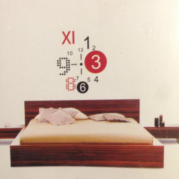 design wand uhr wohnzimmer wanduhr 50x70cm wandtattoo deko xxl 3d stylisch neu traumfabrik xxl. Black Bedroom Furniture Sets. Home Design Ideas