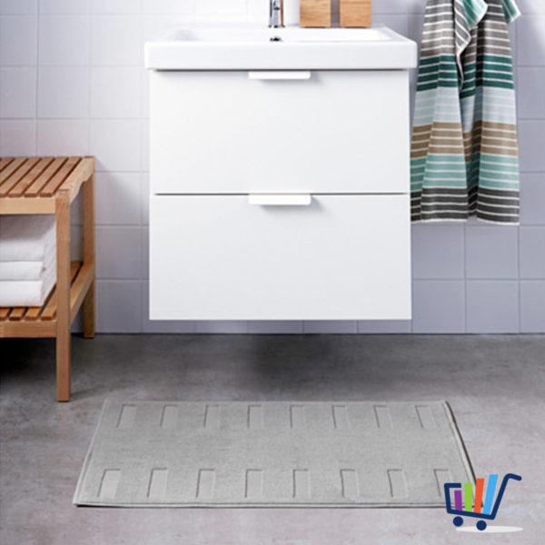 IKEA BLANKSJÖN Duschmatte 50×80 cm grau Vorleger Teppich Bad ...