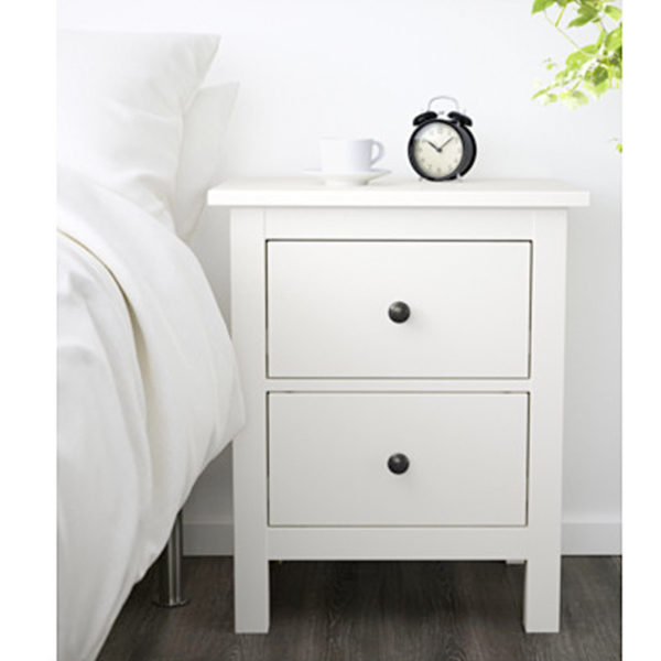 ikea hemnes kommode mit 2 schubladen wei nachtkonsole. Black Bedroom Furniture Sets. Home Design Ideas