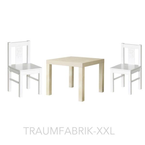 ikea kindersitzgruppe kindertisch 2x kinderstuhl sitzgruppe wei kritter lack traumfabrik xxl. Black Bedroom Furniture Sets. Home Design Ideas