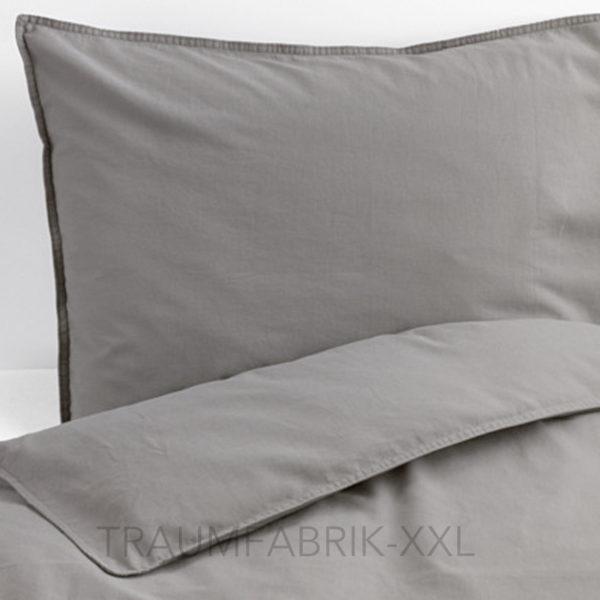 ikea ngslilja bettw sche bettbezug 140 200 cm bettw scheset grau 2 tlg set neu traumfabrik xxl. Black Bedroom Furniture Sets. Home Design Ideas