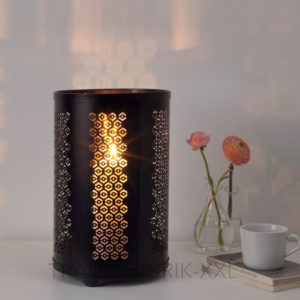 ikea stabbig windlicht schwarz 35cm kerzenhalter deko f r blockkerzen edelstahl traumfabrik xxl. Black Bedroom Furniture Sets. Home Design Ideas