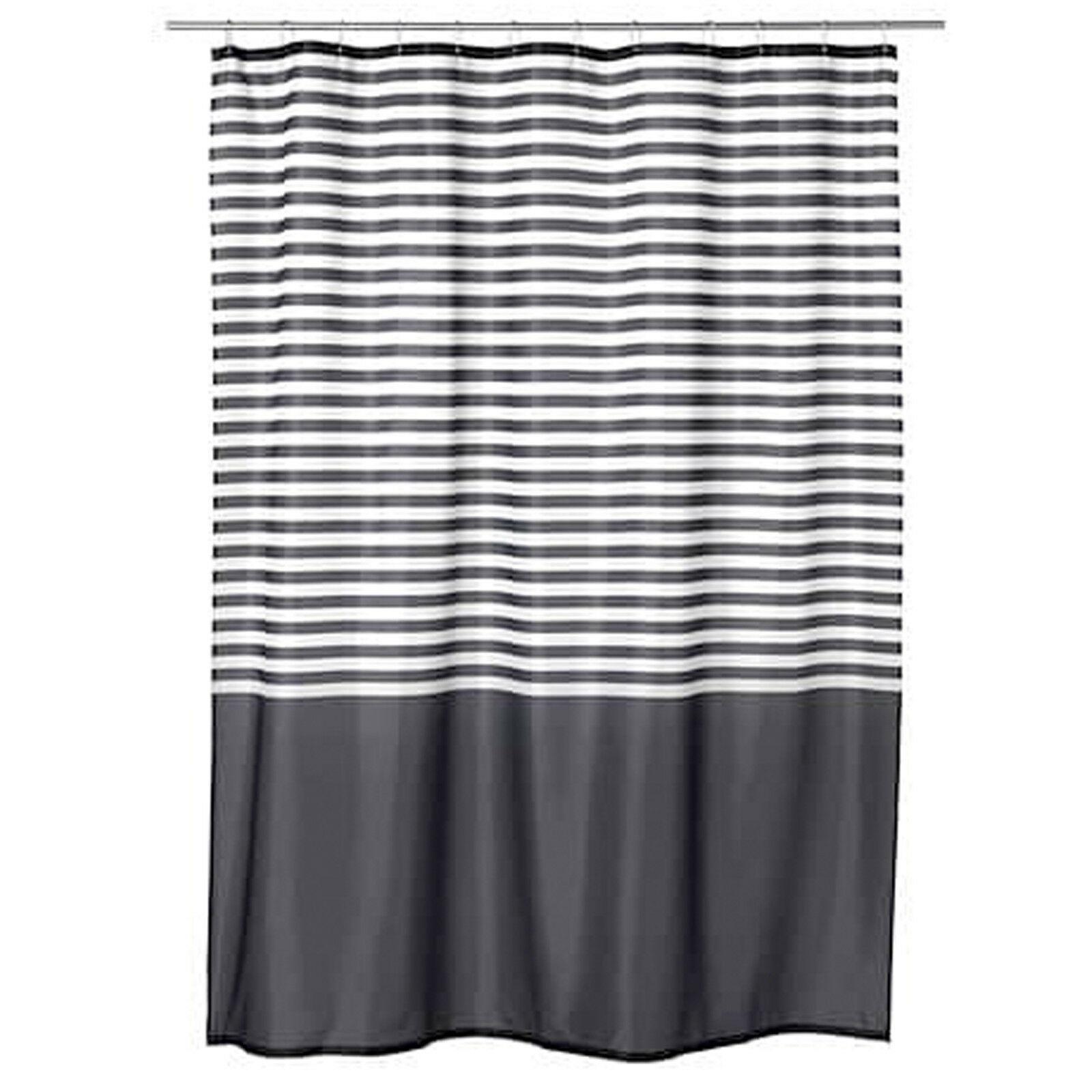 IKEA VADSJÖN Duschvorhang Vorhang Dusche Bad Badewannenvorhang 180x200 cm  grau