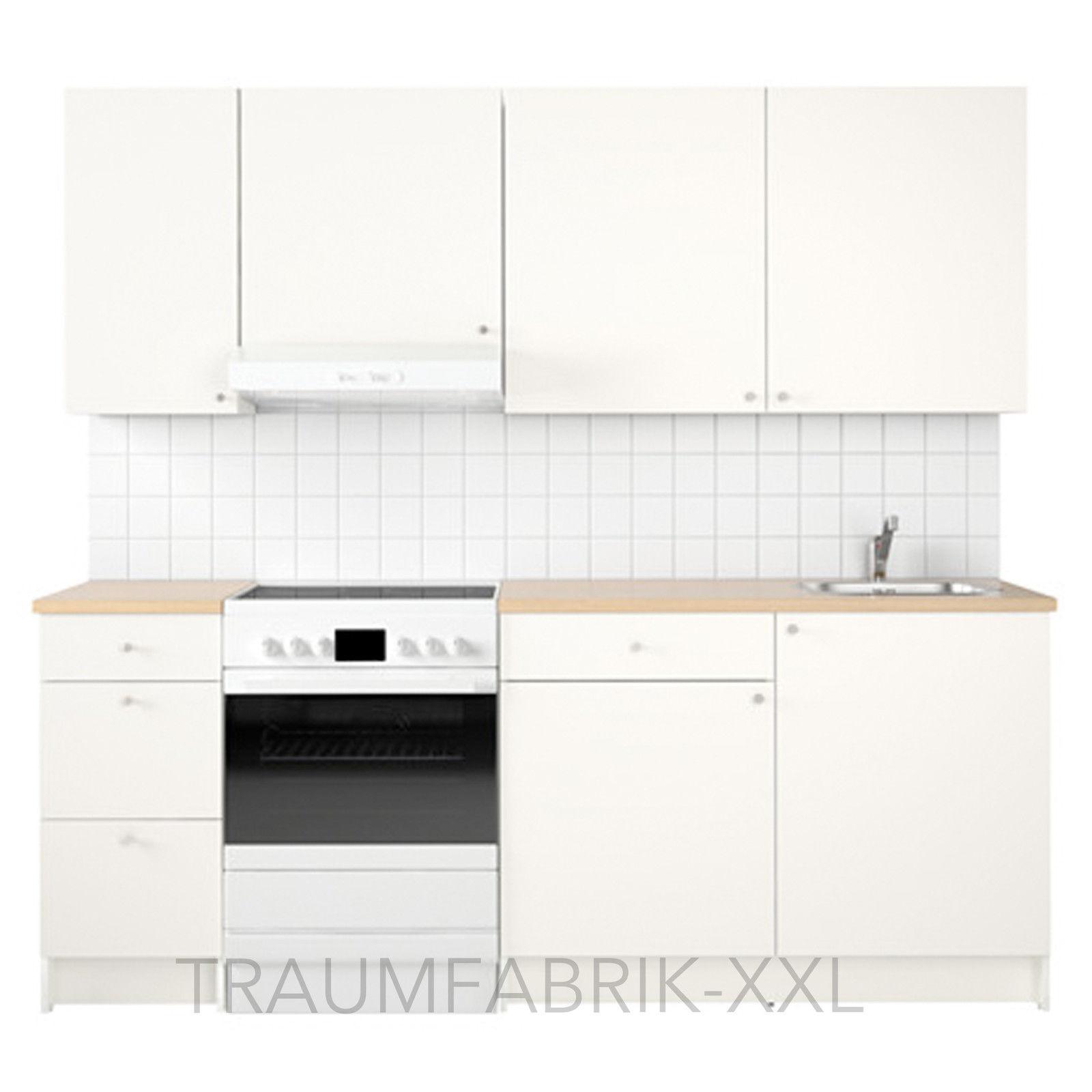 Wunderschön Küche 220 Cm Ideen Von Kchenzeile-kche-kchenblock-220-cm-breit-wei-mit-