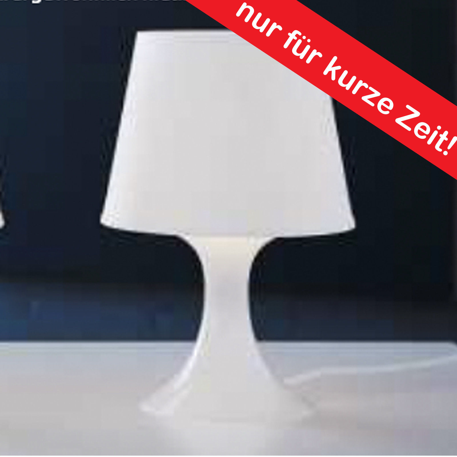 ikea designer tischleuchte weiss tischlampe lampe nachttischlampe table lamp neu traumfabrik xxl. Black Bedroom Furniture Sets. Home Design Ideas
